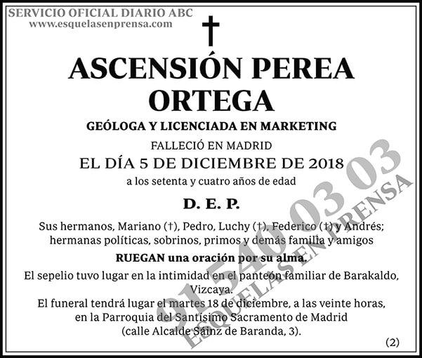 Ascensión Perea Ortega